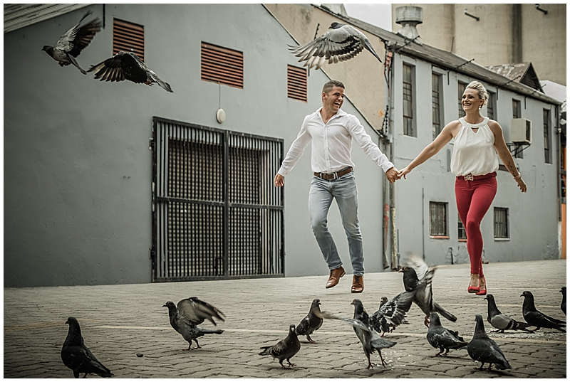 Donovan and Estelle's Fun Fun Fun Urban Engagement shoot
